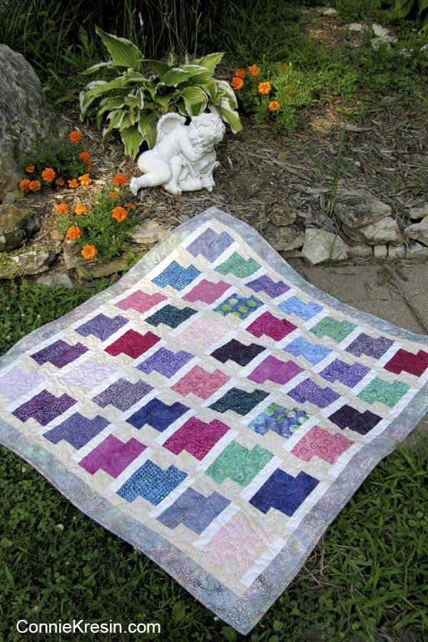 Dotalicious Batik baby quilt
