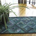 Green String Table Runner Pattern