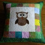 Quilted Tree Owl Pillow pattern
