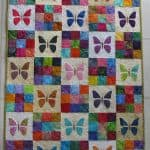 Quilted baby butterfly quilt