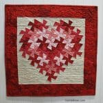 Twisting Heart quilt pattern