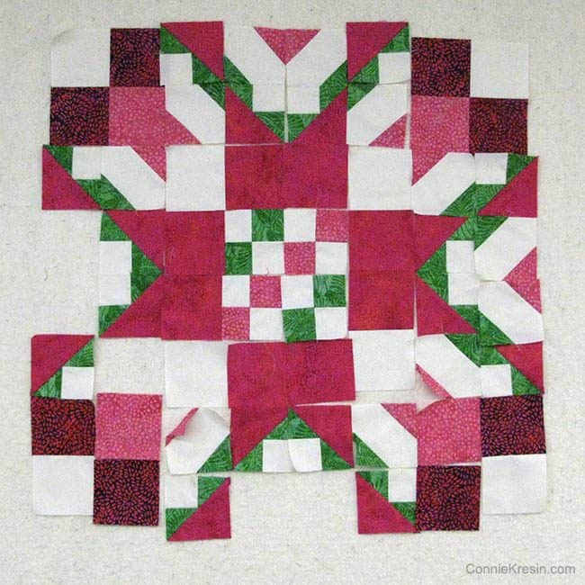 AccuQuilt Block sections on wall