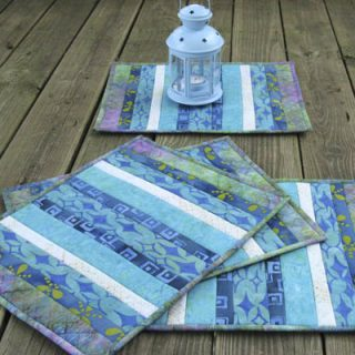 Batik QAYG Placemats Tutorial