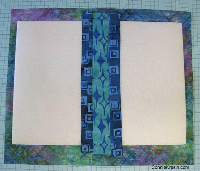 Batik QAYG placemats tutorial center strips