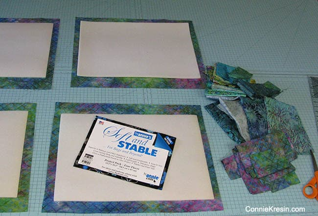 Batik QAYG placemats tutorial Soft n Stable and backing