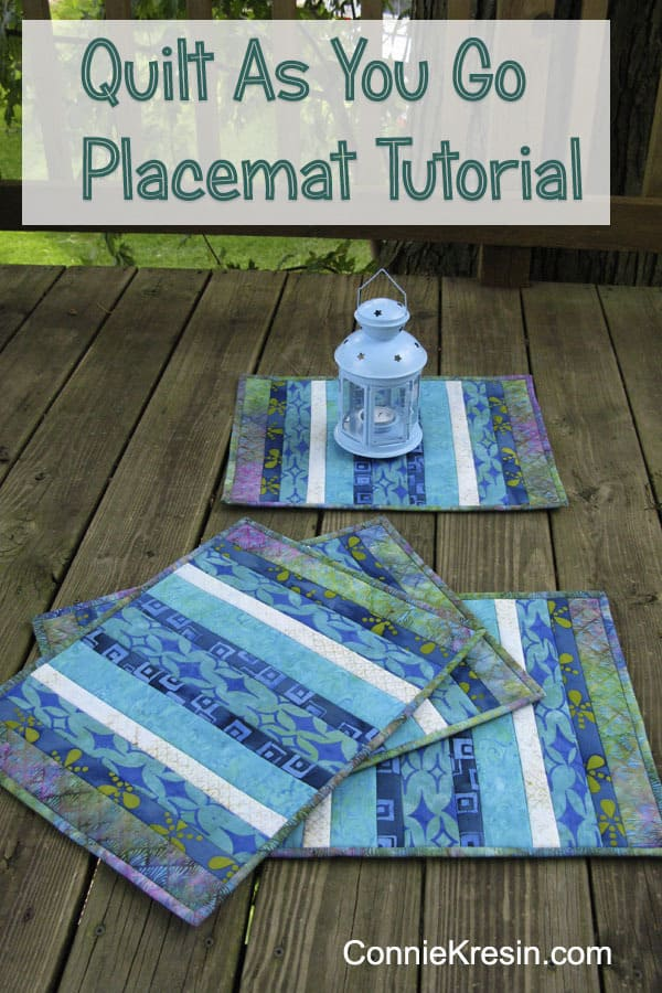 Batik Quilt As You Go Placemats Tutorial