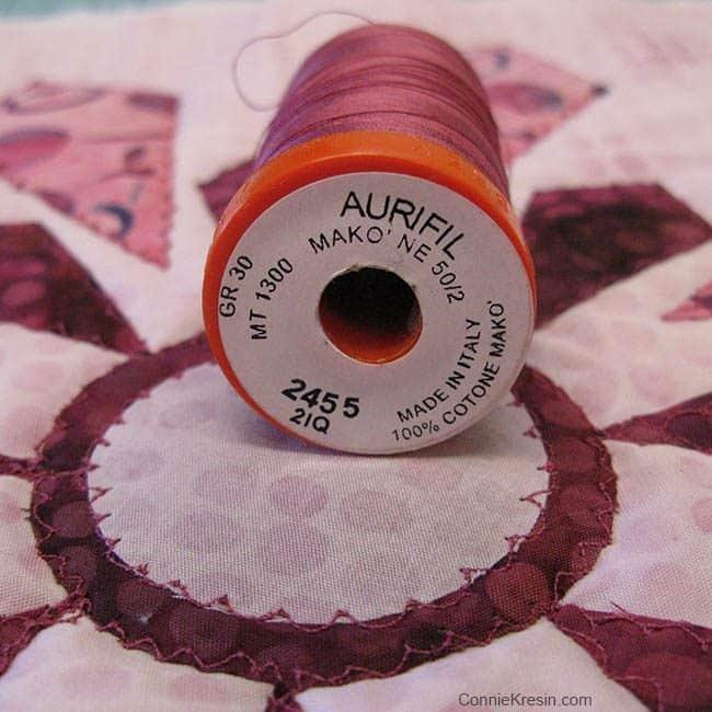 I Wish You a Merry Quilt-A-Long Block 1 Aurifil Thread