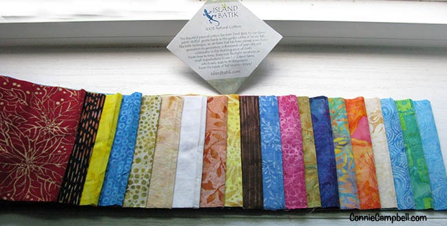 IB 5inch batik strips open