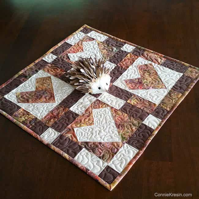 Wonky Heart Table Topper Tutorial