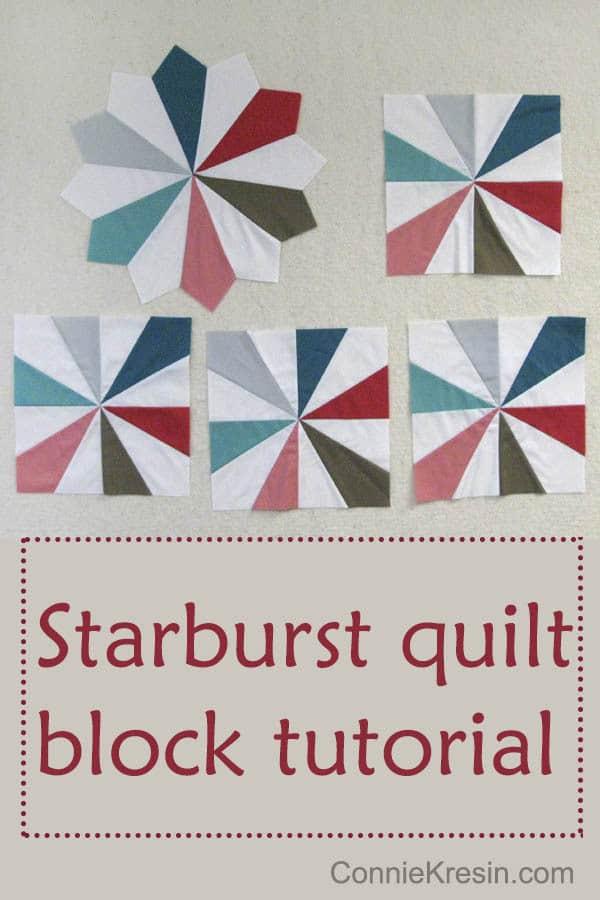 Free quilt pattern Bella Block 8 Starburst