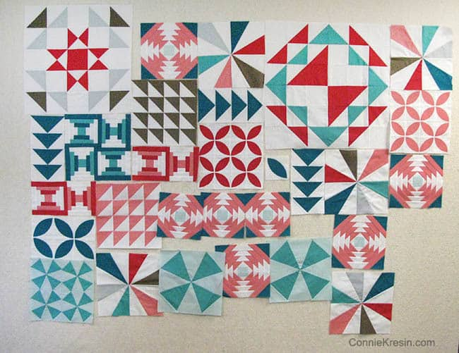 Block 8 - Starburst free pattern