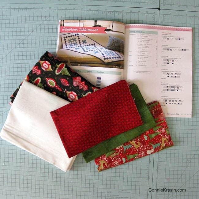 Daybreak tablerunner fabrics