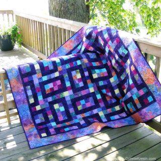 Hopscotch batik quilt pattern