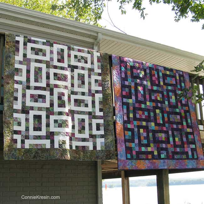 Hopscotch-quilts-on-deck both quilts
