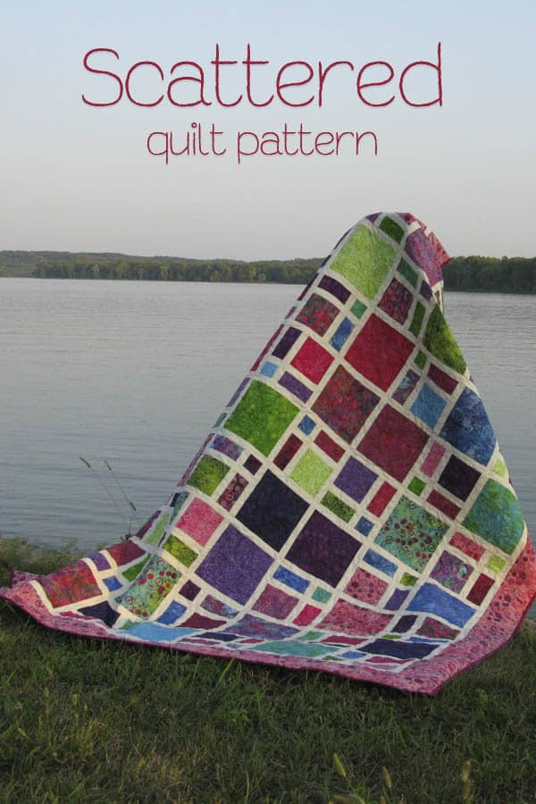 Scattered Quilt Pattern at ConnieKresin.com fast and easy to make