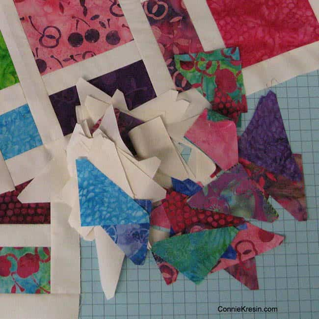 Island Batik Creative Borders Binding and AccuQuilt HST die