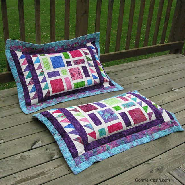 Scattered pillows on the deck