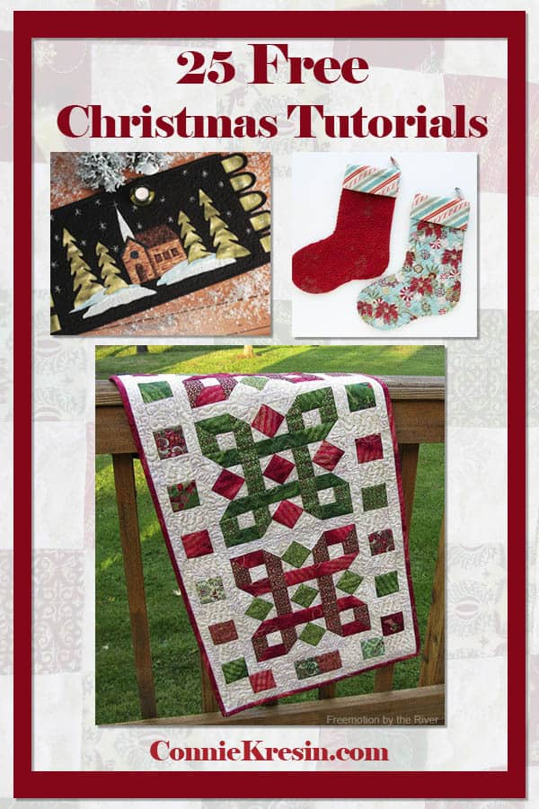 25 Christmas Sewing And Quilting Tutorials