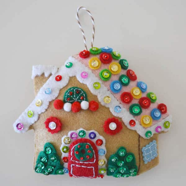 25 free Christmas Quilt Patterns and tutorials cute Gingerbread ornament