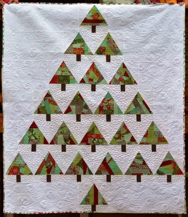 25 free Christmas Quilt Patterns and tutorials Improv Trees