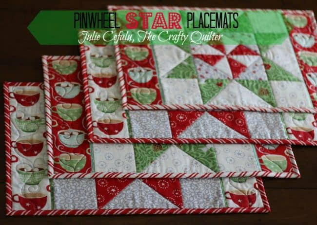 25 free Christmas Quilt Patterns and tutorials Placemats from the Quilty Crafter