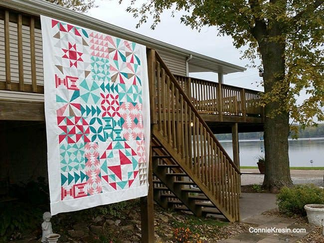 Bella Skill Builder Quilt by the river