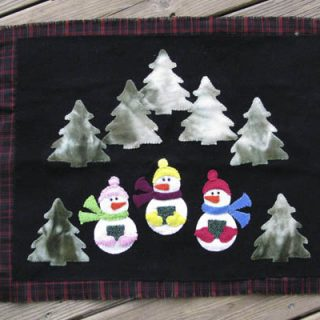 Wool Snowmen Caroling tutorial ConnieKresin.com
