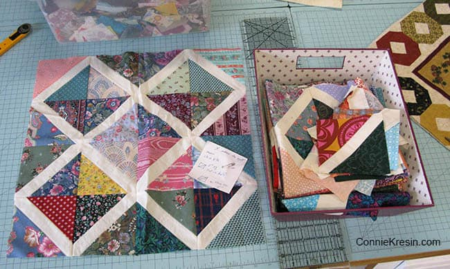 X marks the Spot quilt blocks