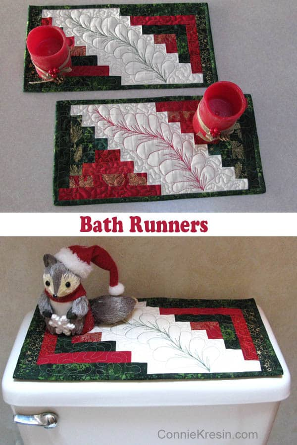 Bathrunner in Christmas Batiks