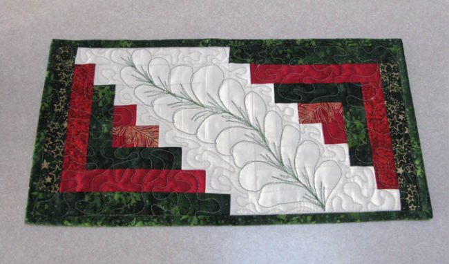 Christmas Bath Runners made with Island Batik Fabrics