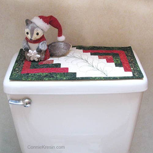 Christmas Batik bath runner toilet