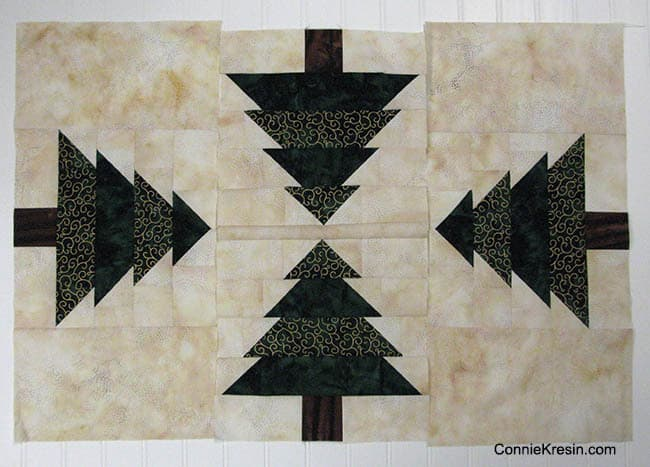 Christmas Tree Runner piecing sections