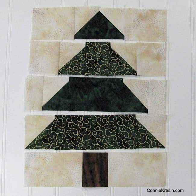 Christmas Trees Tablerunner Batiks