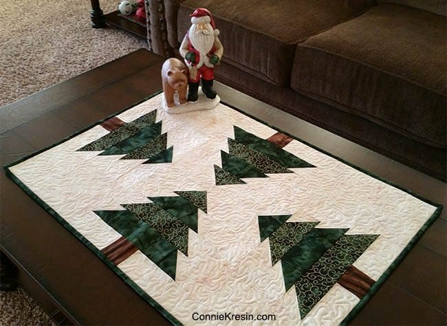 Christmas Tree Tablerunner Resized ConnieKresin