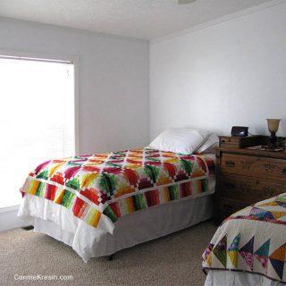 Fruit Slice Quilt on bed