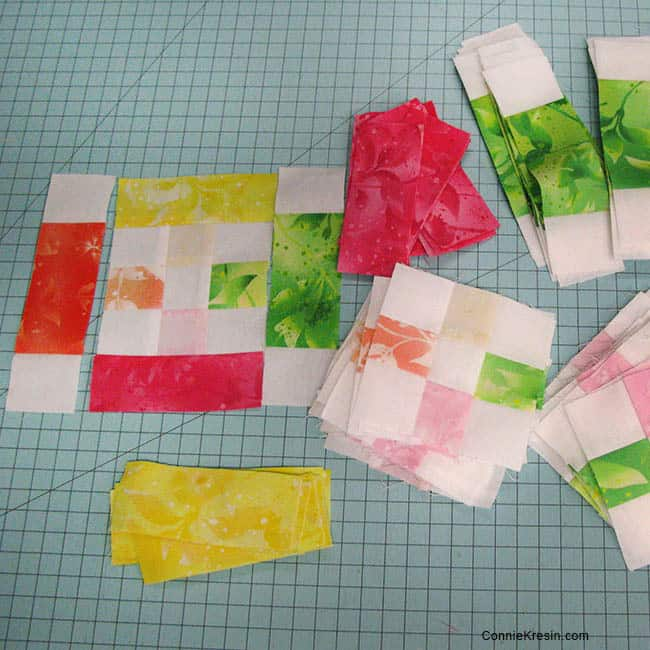 Fruit Slices Quilt block pieces
