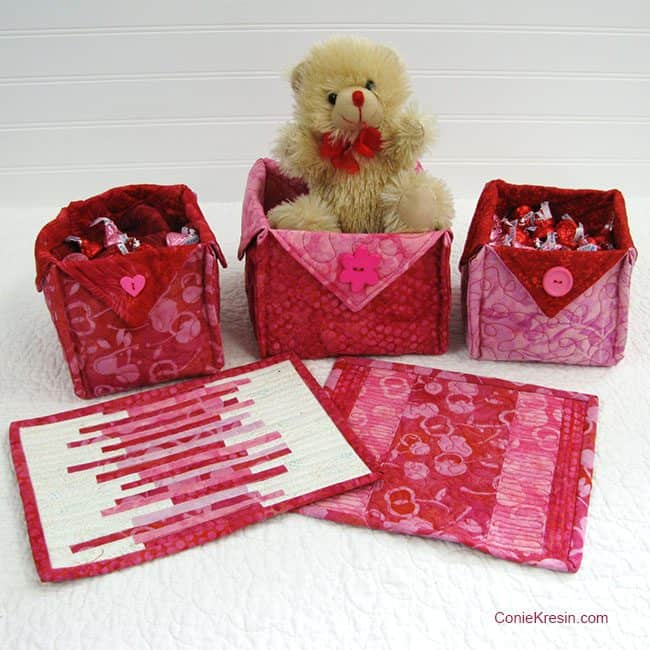 Galentine Fabric Baskets Tutorial