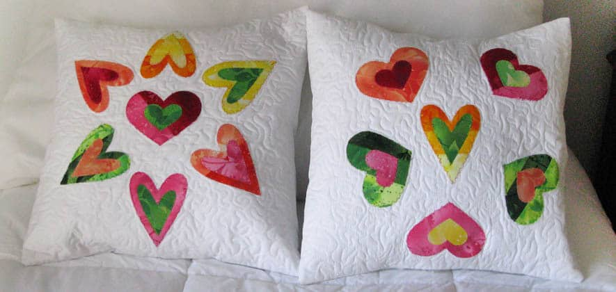 Quilted Applique Envelope Pillows