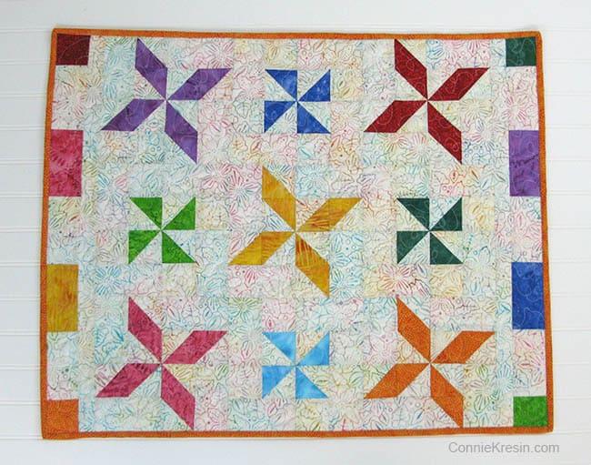 Batik Pinwheel Quilt tutorial