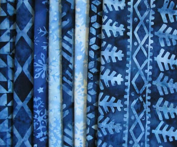 Alpine Ice Batiks Blues