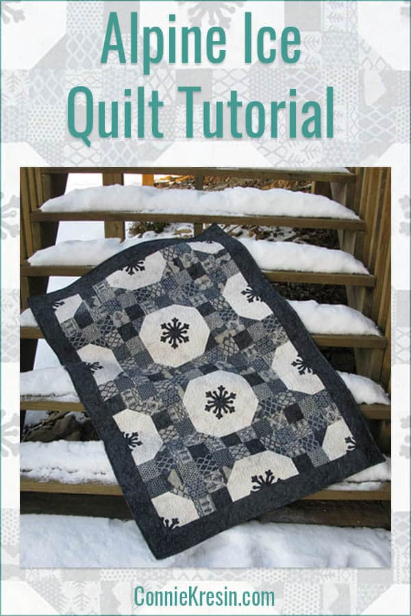 Tutorial for the Alpine Ice quilt with snowflakes