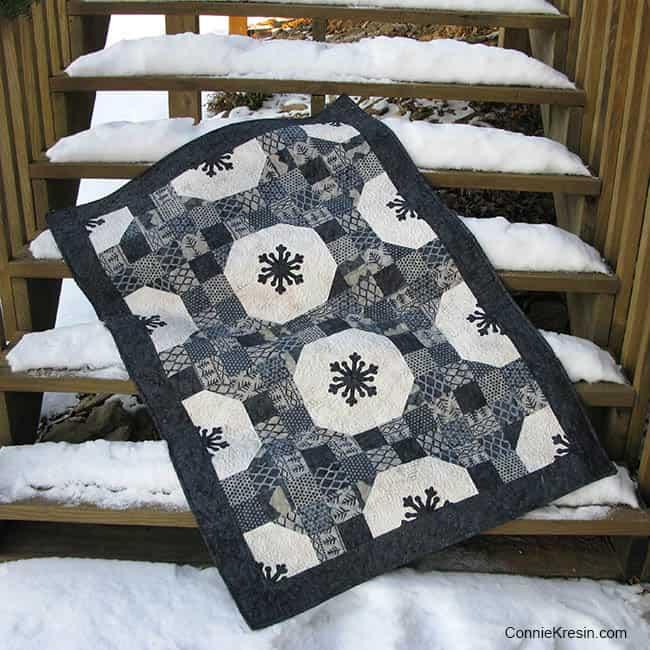 Alpine Ice Snowflakes Quilt Tutorial on steps