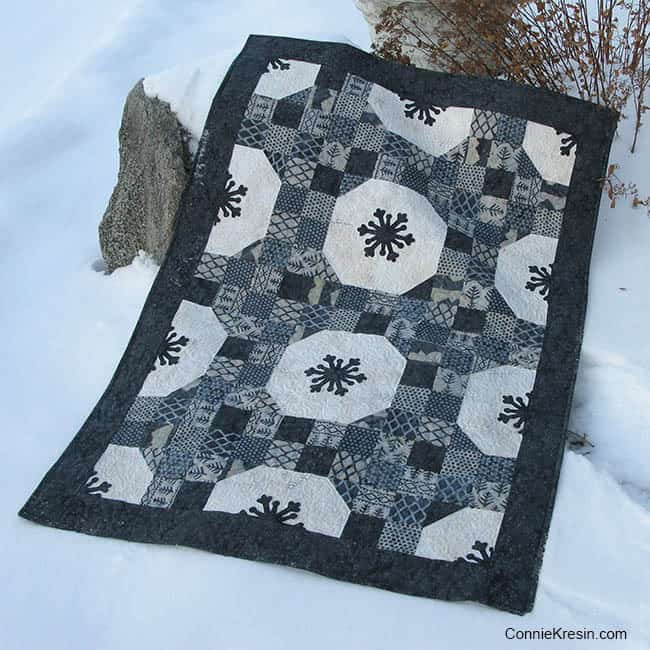 Alpine Ice Snowflakes Quilt Tutorial