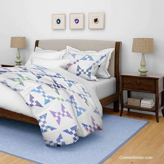 Banana Split quilt bedroom