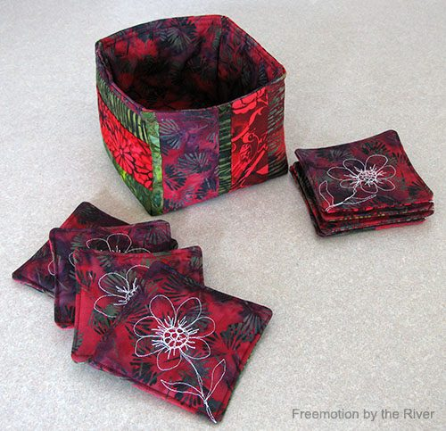 Batik Coasters and Fabric Basket Tutorial