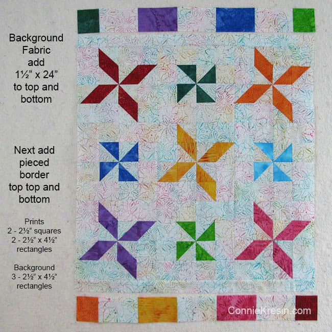 Sizes to cut borders for baby quilt