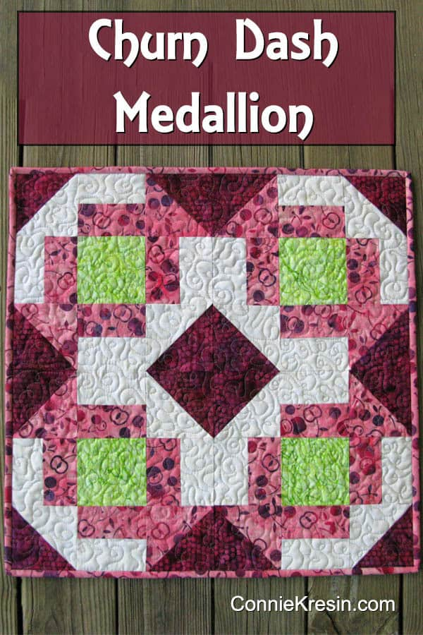 Churn Dash Medallion table topper tutorial