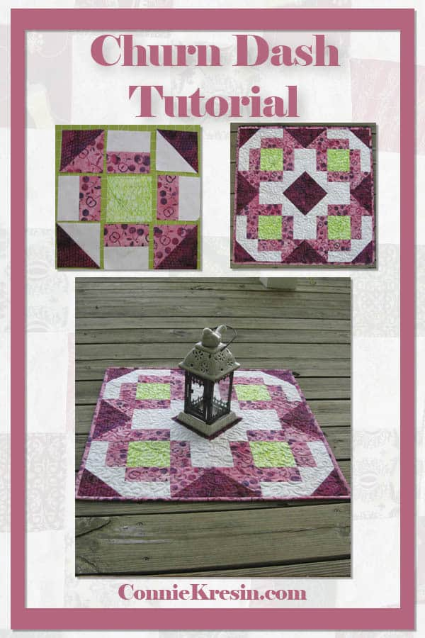 Churn Dash Medallion table topper tutorial