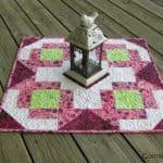 churn dash medallion table topper