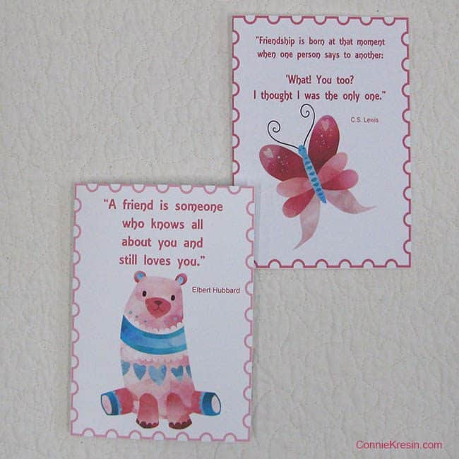 Free printable cards for Valentine's Day or Galentine's Day ConnieKresin.com